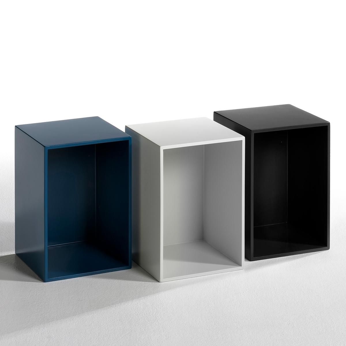 Ящик Trebor дизайн Э. ГаллинаХарактеристики : -Из крашенного МДФ. - Можно использовать вертикально или горизонтально. Размер : - 25 x 38 x 25 см.<br><br>Цвет: черный