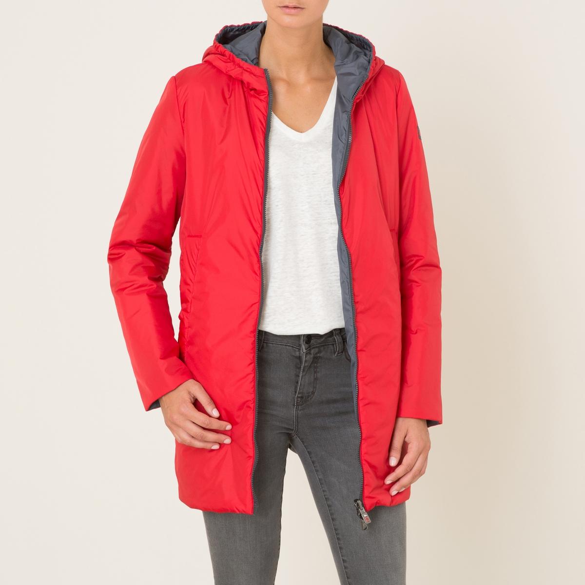 Куртка длинная, двусторонняяСостав и описание Материал : 100% полиамидМарка : OOF<br><br>Цвет: красный/ серый<br>Размер: M