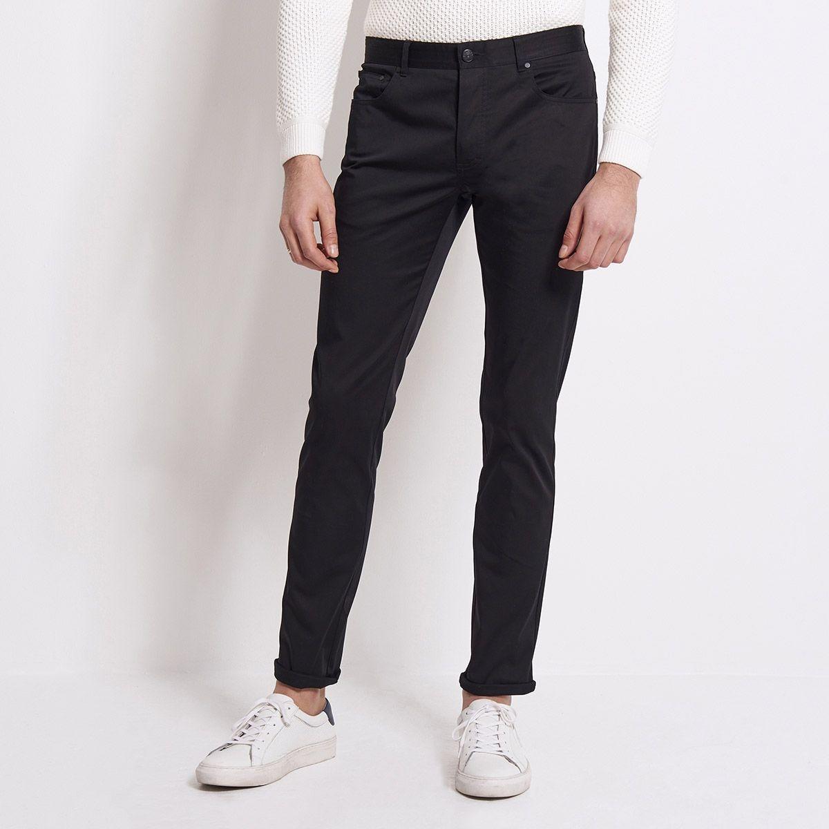 Pantalon 5 poches uni