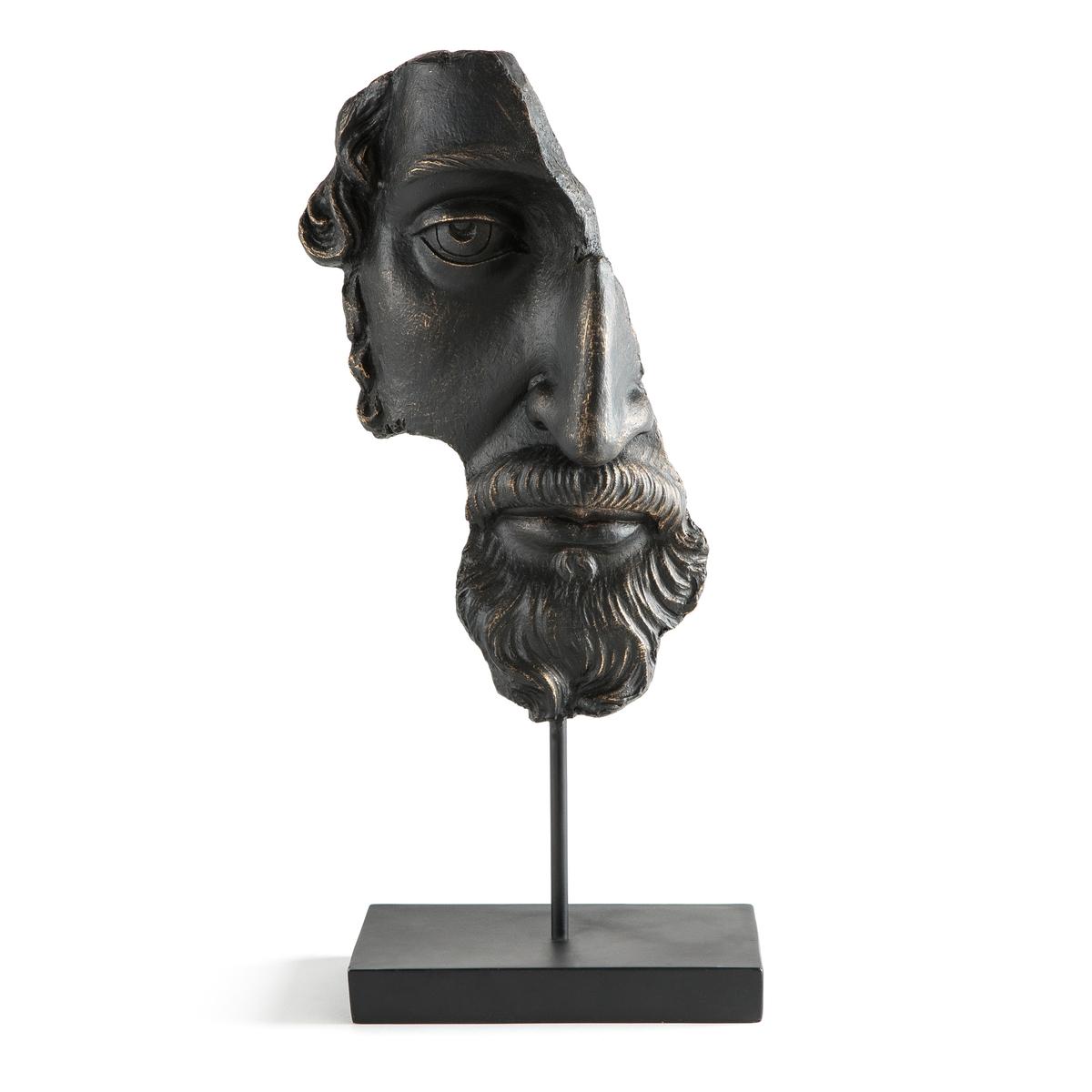 Статуэтка LaRedoute В форме лица из пластика Waraji единый размер черный 3 картины laredoute wekoso единый размер черный