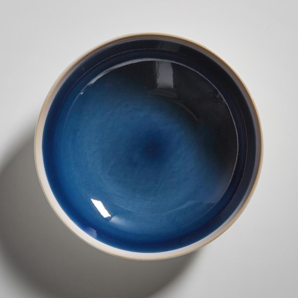 Комплект из 4 глубоких тарелок из керамики, DEONIEОписание:4 тарелки глубокие D?onie La redoute Int?rieurs . Тарелки из керамики в очень насыщенных и ярких тонах   . Контрастные края и однотонная центральная часть с белым матовым контуром. Характеристики 4 глубоких тарелок D?onie : •  Глубокие тарелки из керамики •  Диаметр : 17,8 см •  Можно использовать в посудомоечных машинах и микроволновых печах •  Продаются в комплекте из 4 тарелокНайдите комплект посуды D?onie на нашем сайте laredoute.ru<br><br>Цвет: синий