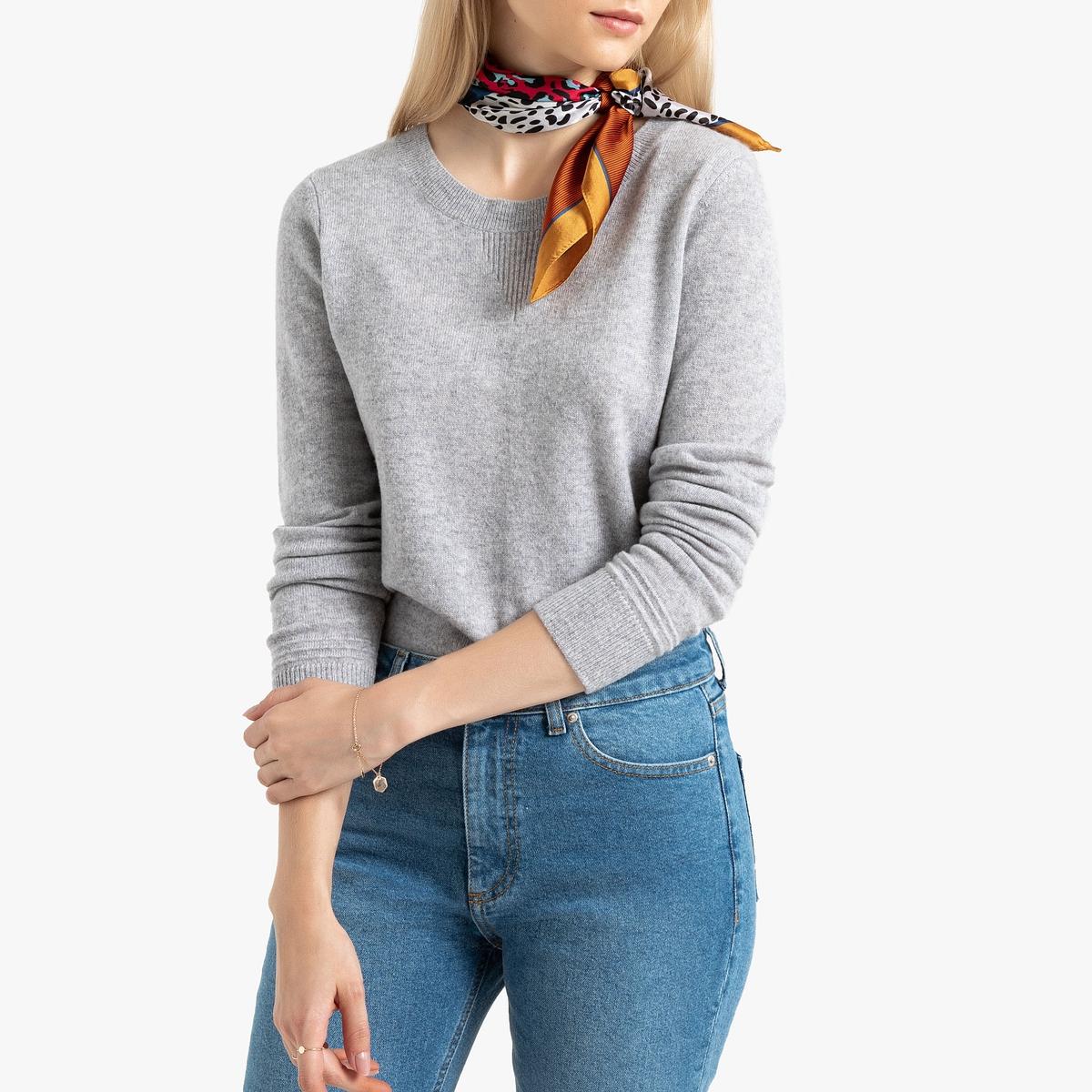 Jersey con cuello redondo de cachemir
