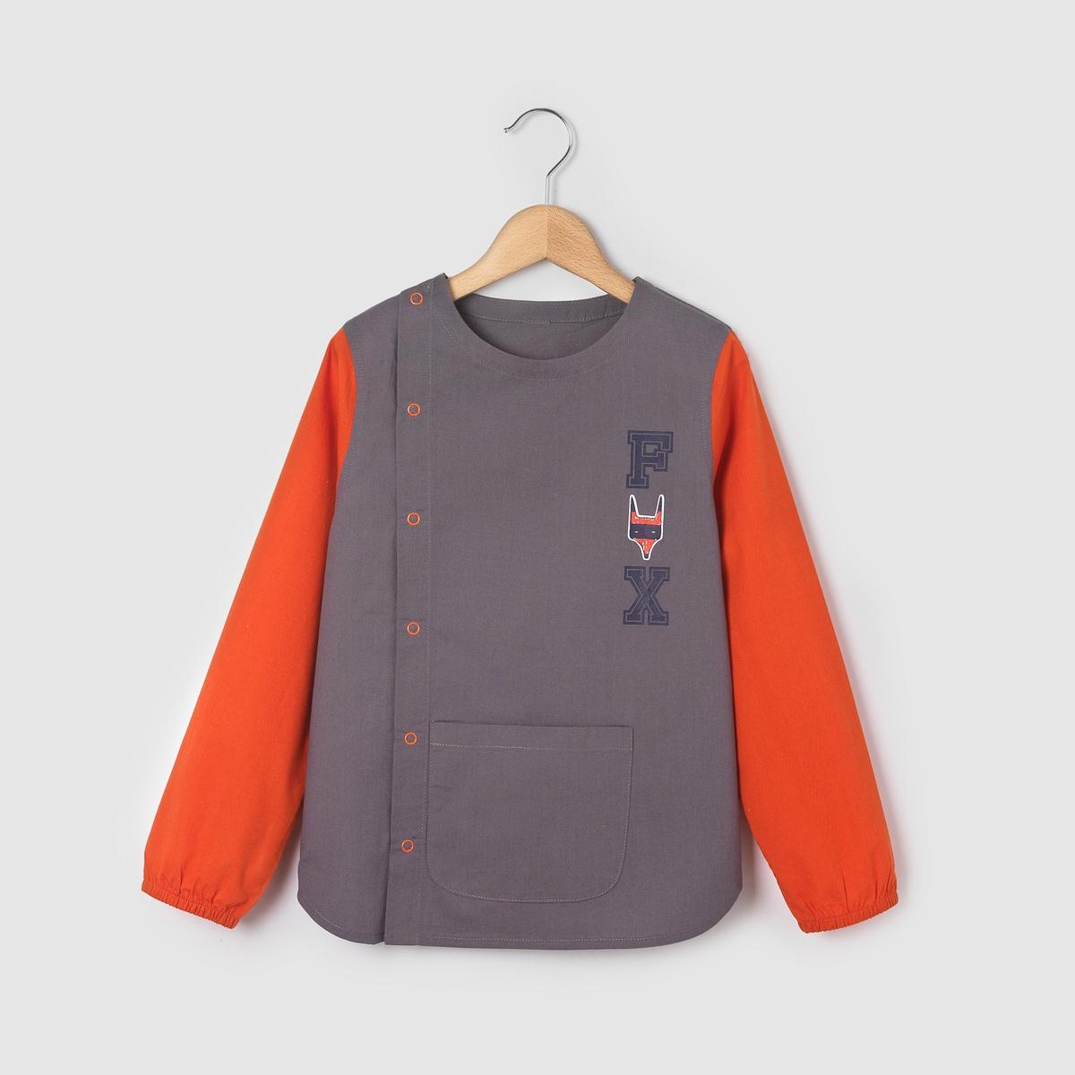 Блуза школьная с принтом лиса на 3-12 лет от La Redoute