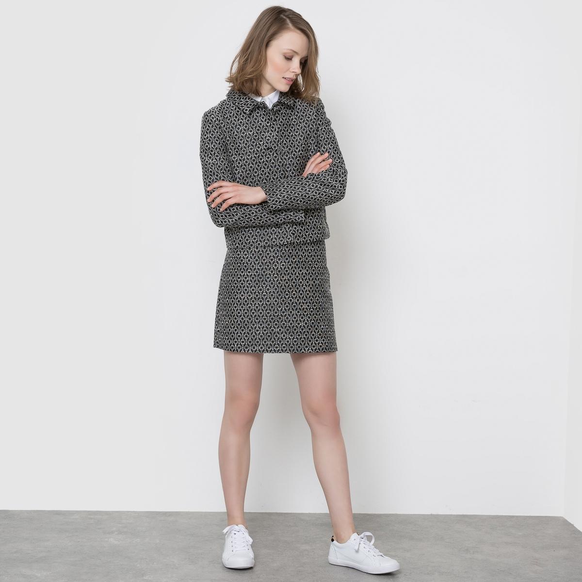 Пиджак короткий жаккардовый