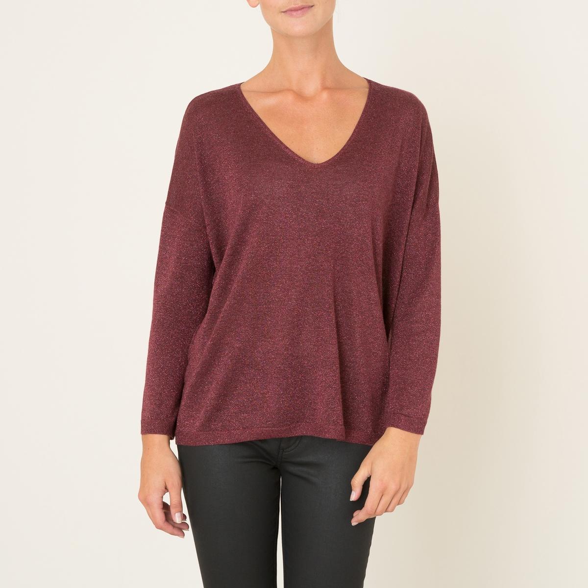 Пуловер женский ALAISСостав и описание Материал : 75% вискозы, 17% полиэстера, 8% волокон с металлическим блеском Марка : BERENICE<br><br>Цвет: бордовый,золотистый