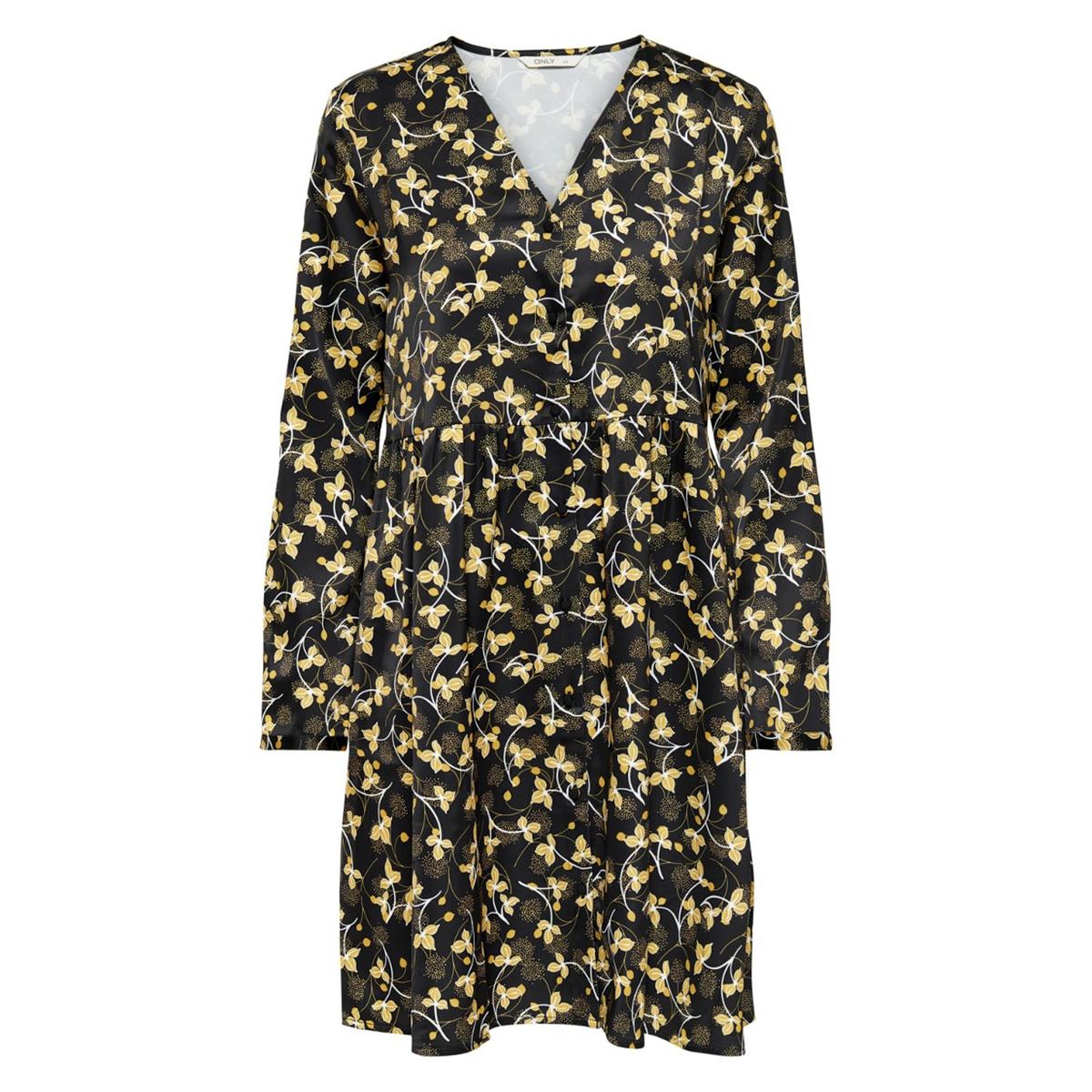 Платье La Redoute С длинными рукавами V-образным вырезом и завязками сзади 34 (FR) - 40 (RUS) черный