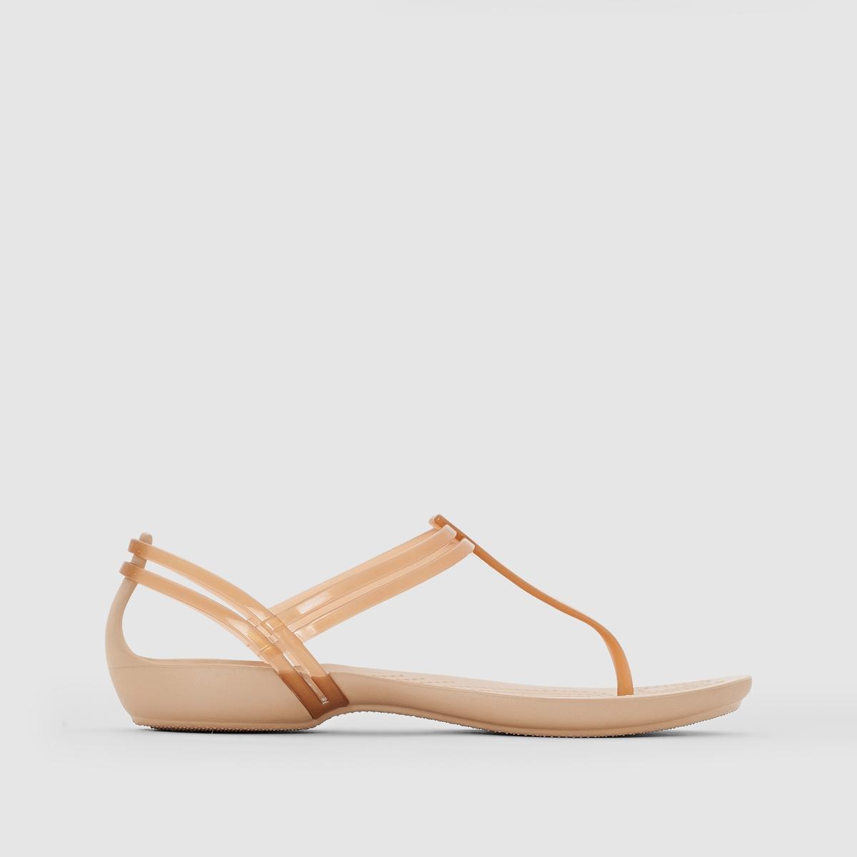 Сандалии ISABELLA T STRAPЛёгкие, яркие и забавные одновременно плоские сандалии с перемычкой между пальцами... обеспечат вам комфортное лето.      Полупрозрачный и исключительно мягкий термопластик повторяет форму ноги, а подошва из резины Croslite™ гарантирует комфорт, которым славится и ценится Crocs.<br><br>Цвет: бронзовый
