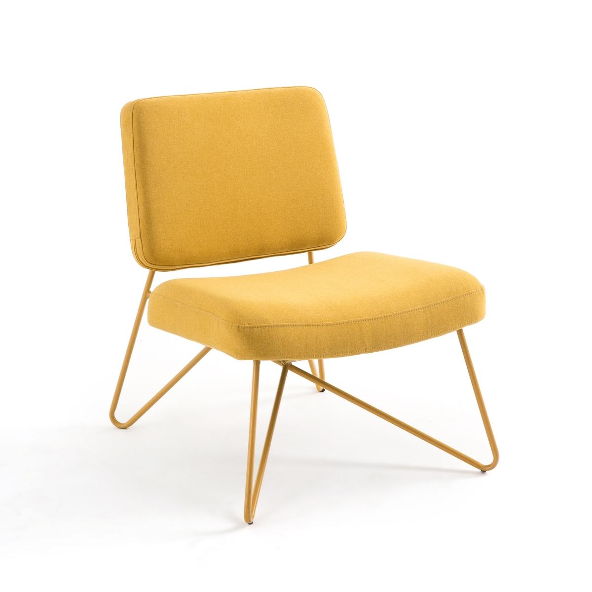Кресло LaRedoute В винтажном стиле Koper единый размер желтый