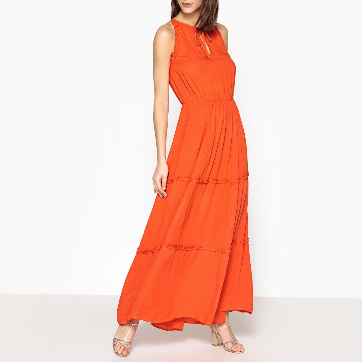 Платье длинное с воланами JOELY от BERENICE
