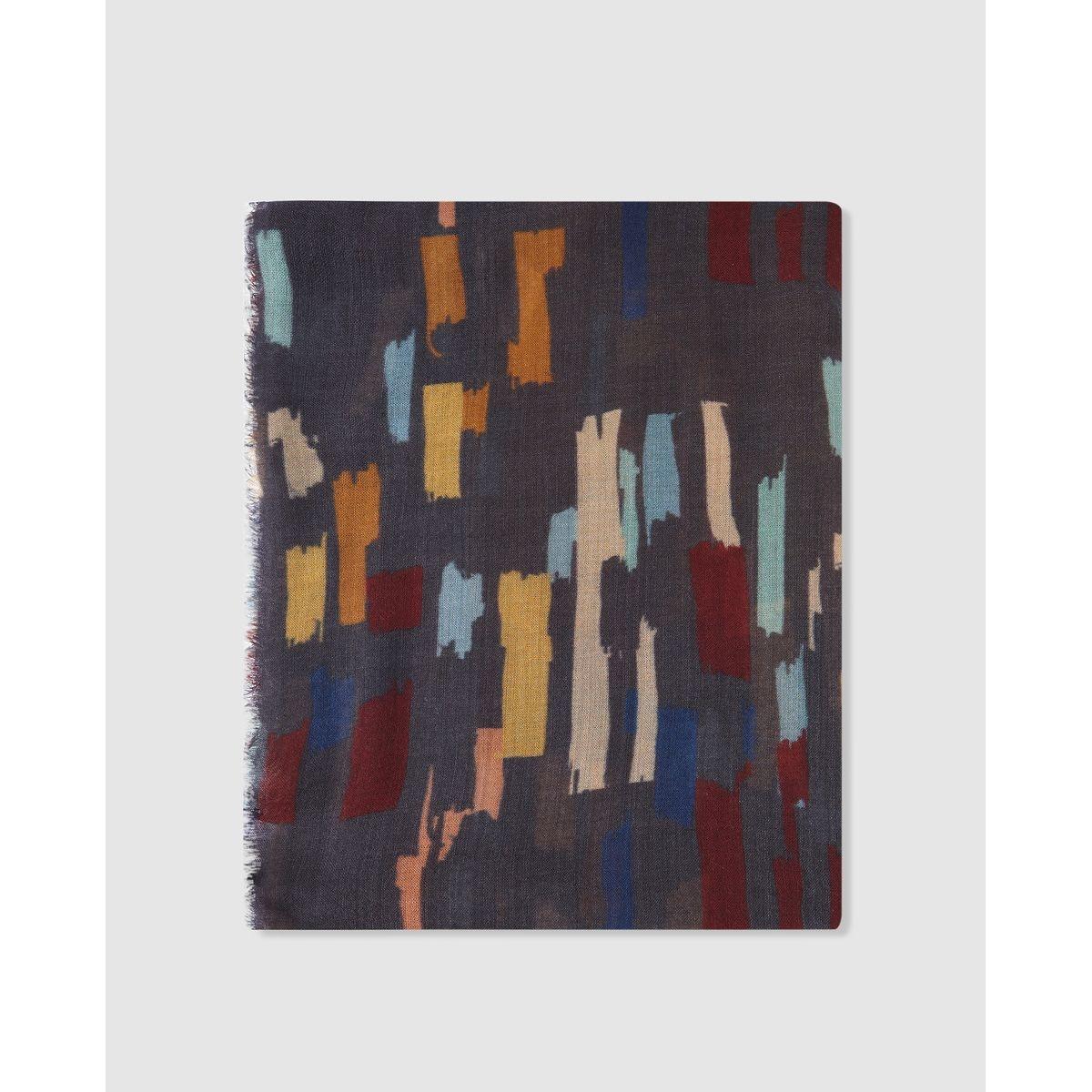 Foulard en laine  à imprimé multicolore
