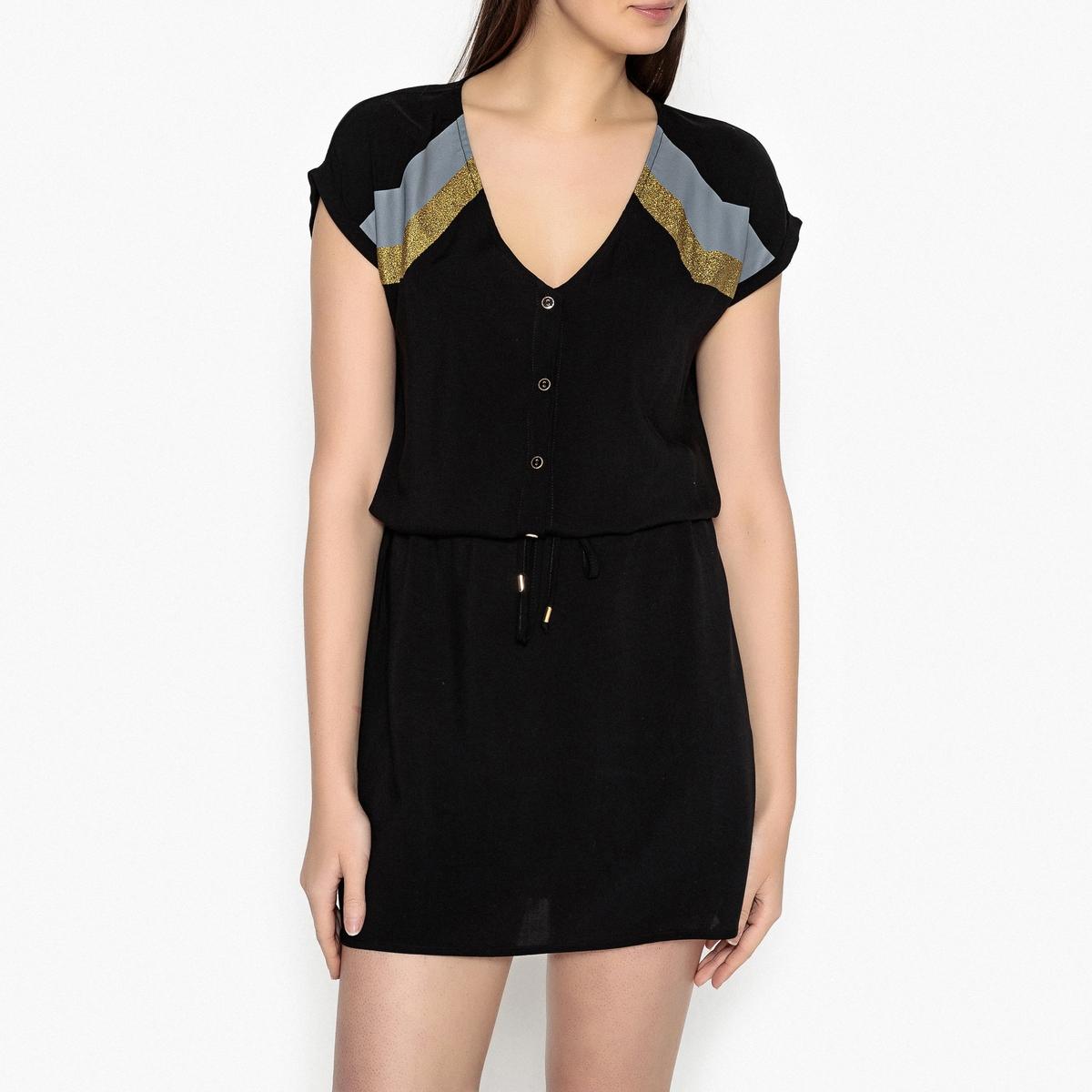 Платье струящееся с короткими рукавами PUNKY
