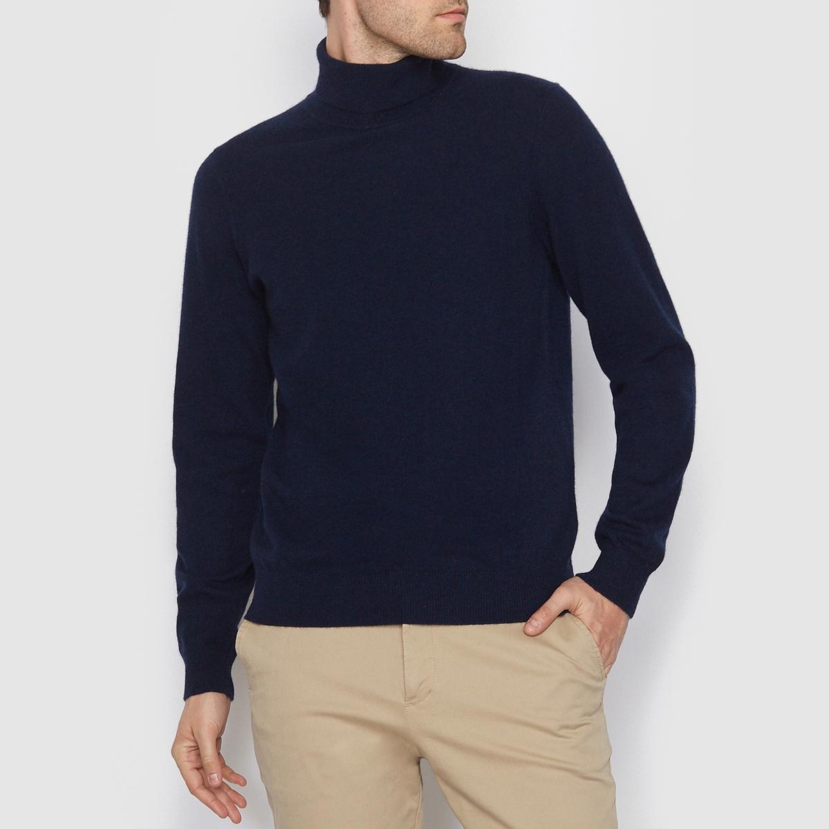 Пуловер с высоким воротником, 100% кашемираСостав и описаниеМатериал: 100% кашемира.Длина: 66 см.Марка: R essentiel.<br><br>Цвет: темно-синий,черный<br>Размер: S
