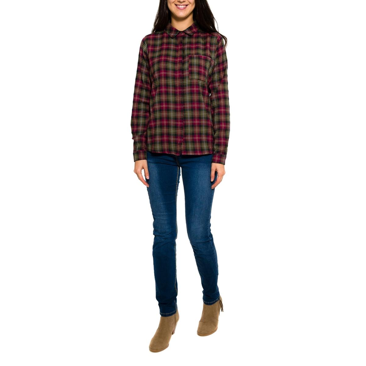Рубашка с рисунком с длинными рукавамиСостав и описание     Материал: 100% хлопок     Марка: PARAMITA<br><br>Цвет: в клетку зеленый/красный<br>Размер: XL