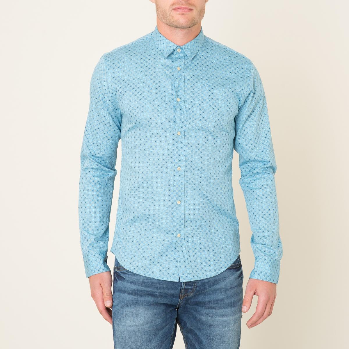 Рубашка с рисункомСостав и описание    Материал : 100% хлопокМарка : SCOTCH AND SODA<br><br>Цвет: синий