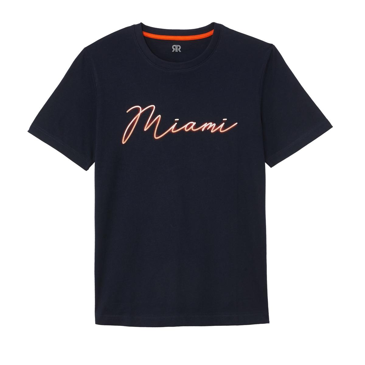 T-shirt de gola redonda Miami à frente