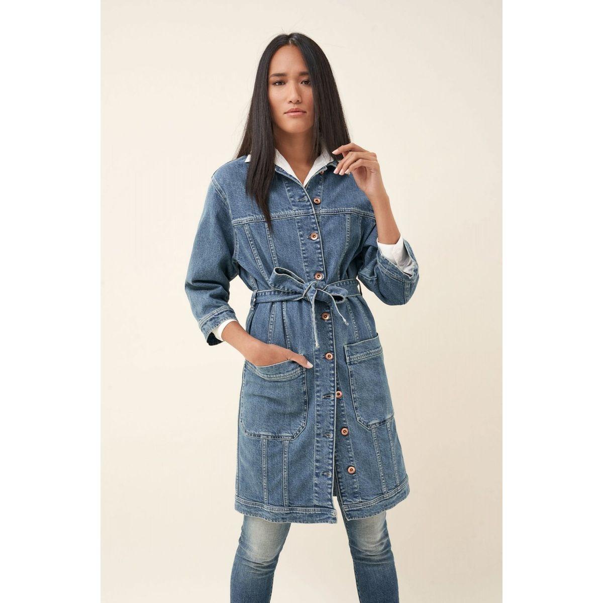 Veste en jean avec ceinture BARCELONA