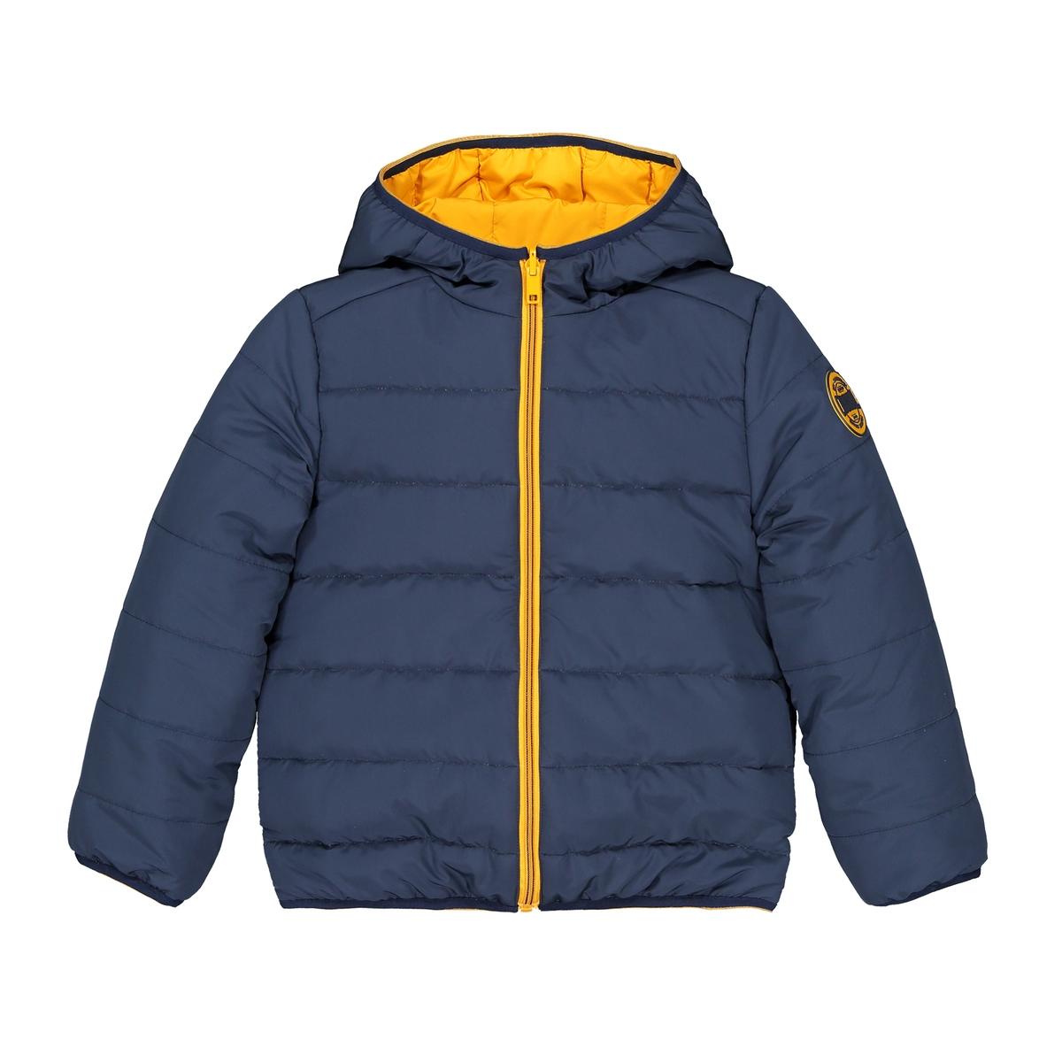 Куртка стеганая тонкая двусторонняя, демисезонная модель, 3-12 лет