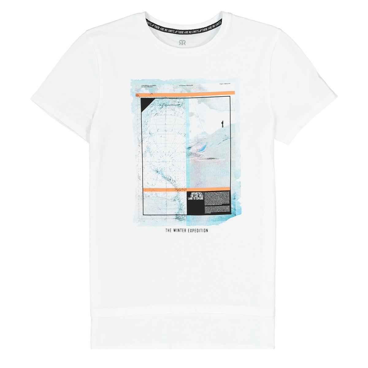 T-shirt estampada de mangas curtas, 10-16 anos