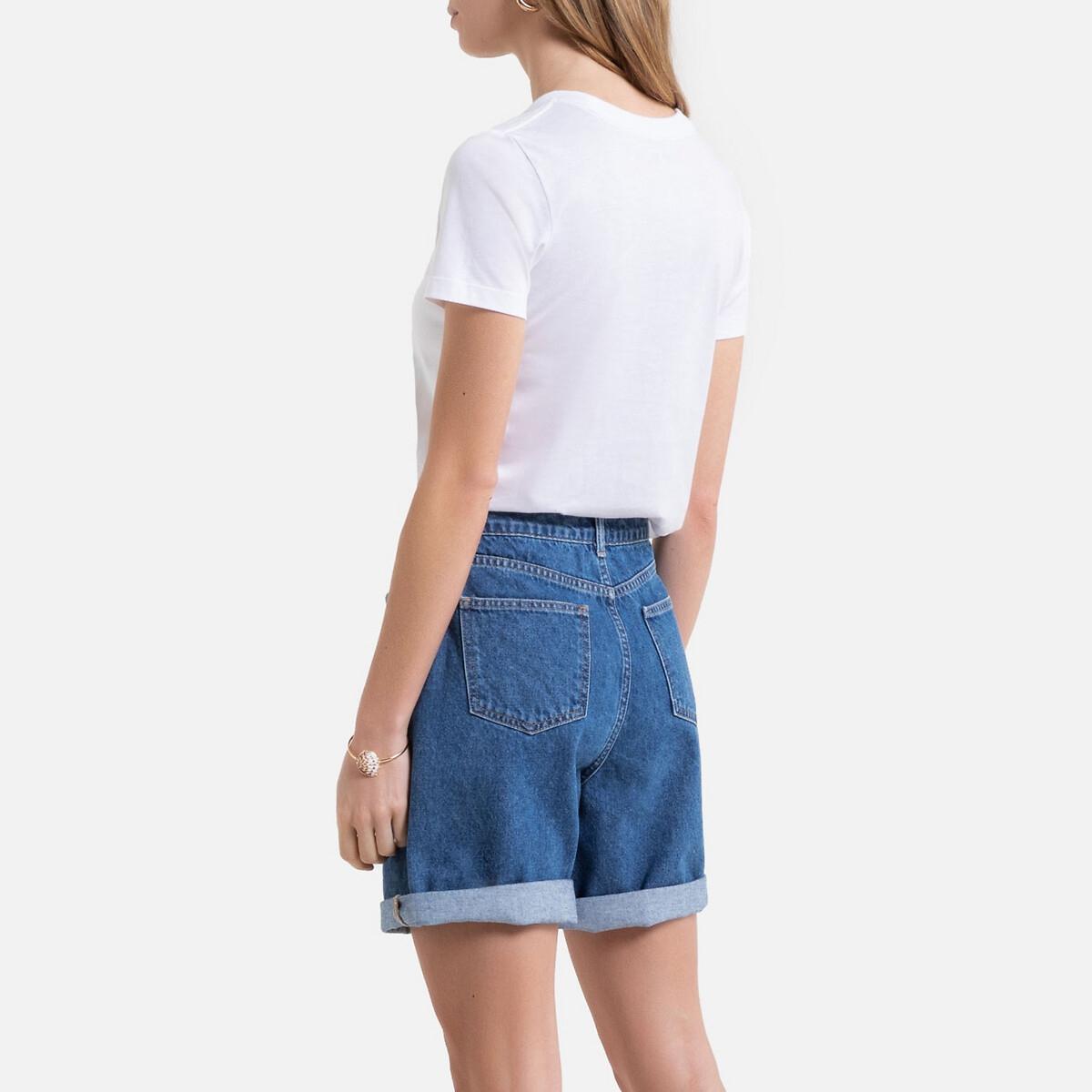 Camiseta 100% algodón con pequeño logotipo en el pecho