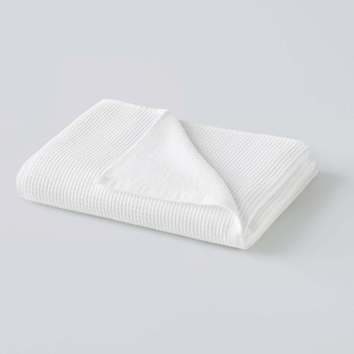 цена Полотенце La Redoute Махровое из вафельной ткани Timeo 70 x 140 см белый онлайн в 2017 году