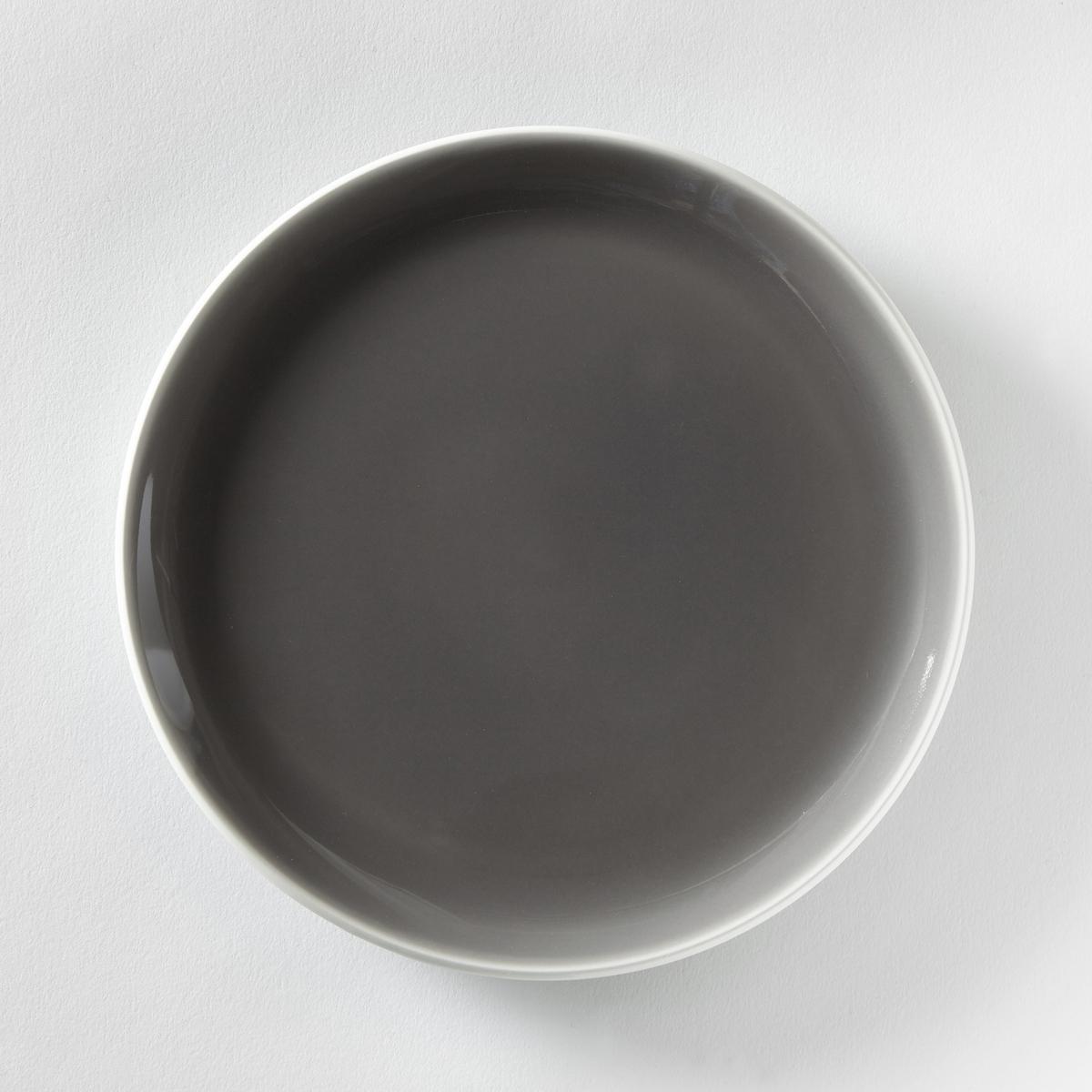 4  тарелки десертныеХарактеристики 4 ультра плоских тарелок десертных с модным дизайном  :- Из фаянса с матовой отделкой  .- Диаметр 21,5 см  .- Можно использовать в посудомоечных машинах и микроволновых печах.Плоские и глубокие тарелки из комплекта продаются на сайте laredoute  .ru<br><br>Цвет: серо-коричневый