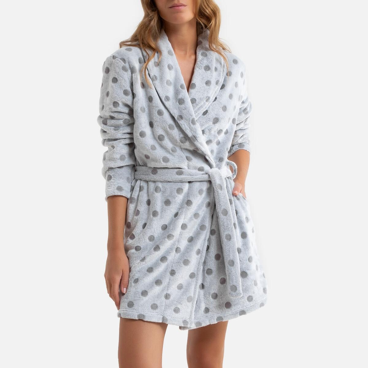 Халат LaRedoute La Redoute 54/56 (FR) - 60/62 (RUS) серый пижама la redoute с шортами 54 56 fr 60 62 rus синий