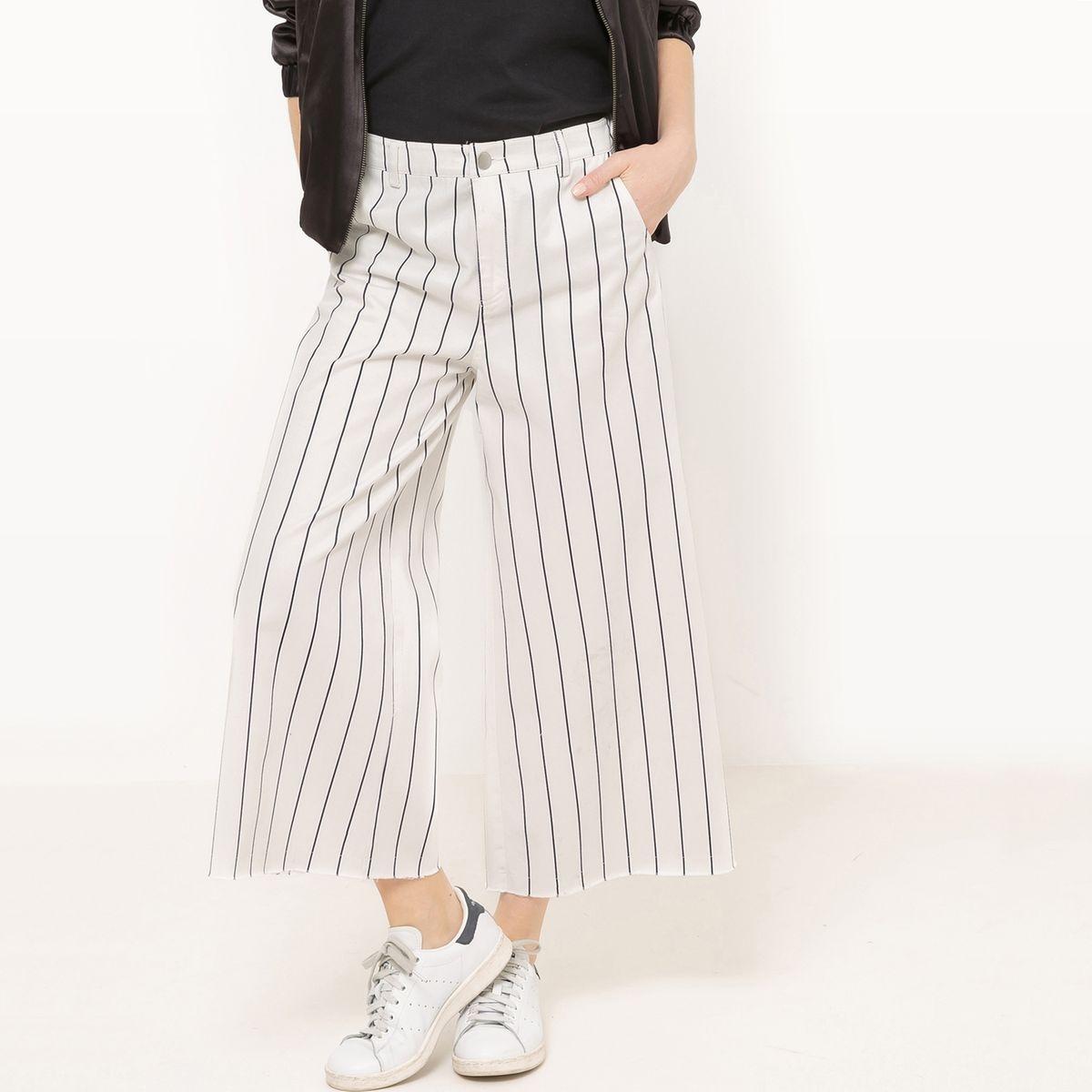 Jupe-culotte rayé