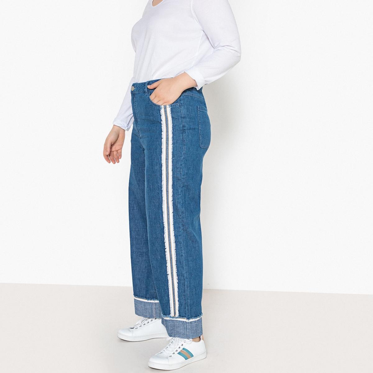 Джинсы широкие джинсы прямые большого размера