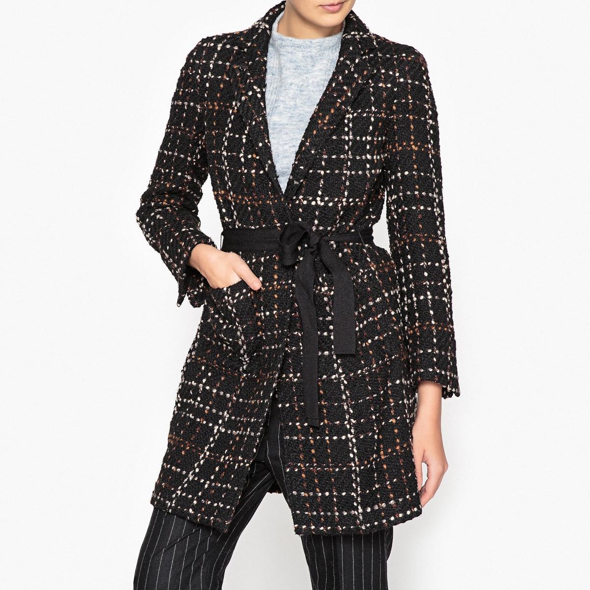 Пальто длинное из букле MANTERO пальто длинное в клетку