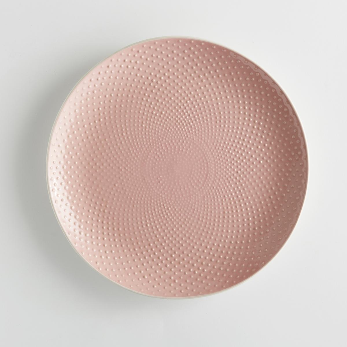 4 тарелки плоские с рисунком в крапинку Arsenia диляра шкурко серое прозрачное в крапинку