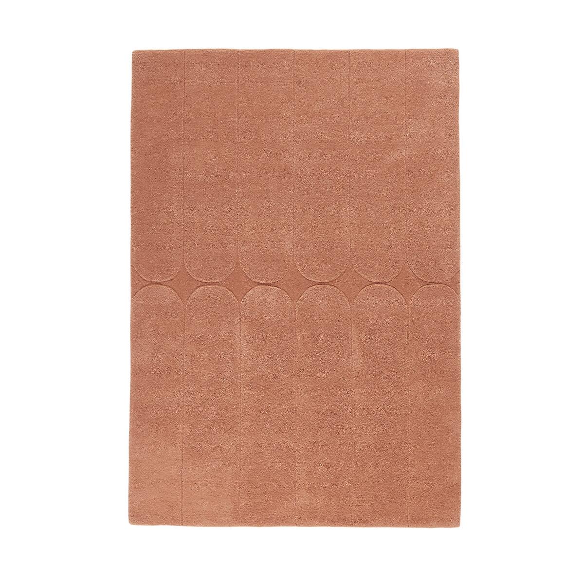 Ковер La Redoute Из шерсти Alba 200 x 290 см каштановый ковер la redoute в берберском стиле kaylon 120 x 170 см каштановый