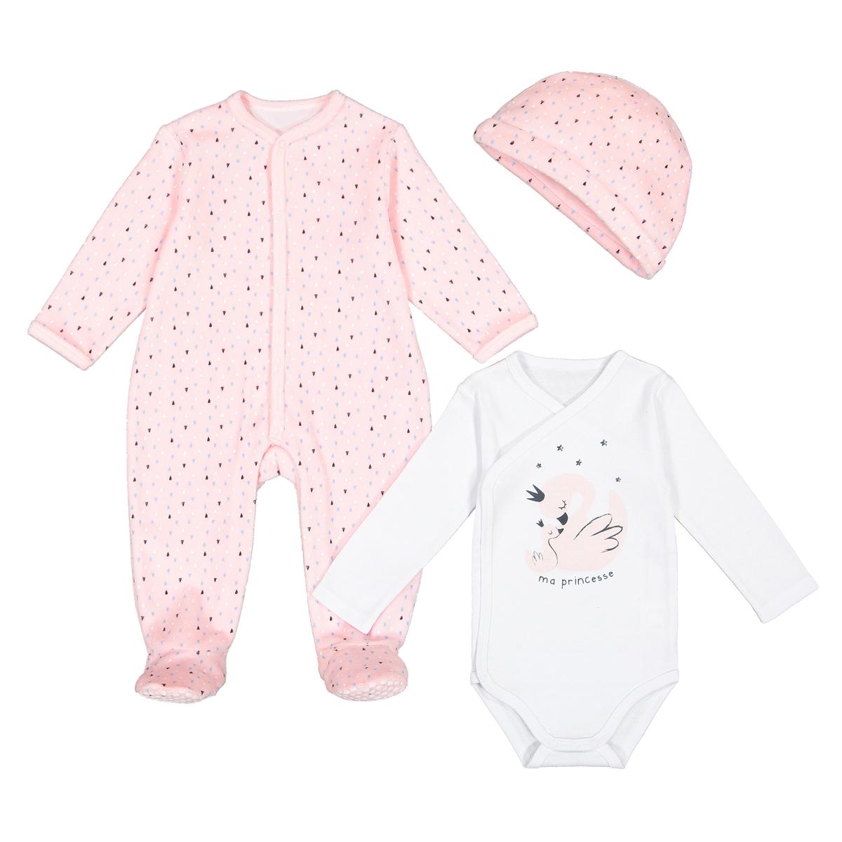 Комплект для новорожденного с принтом La Redoute - мес 3 мес. - 60 см розовый