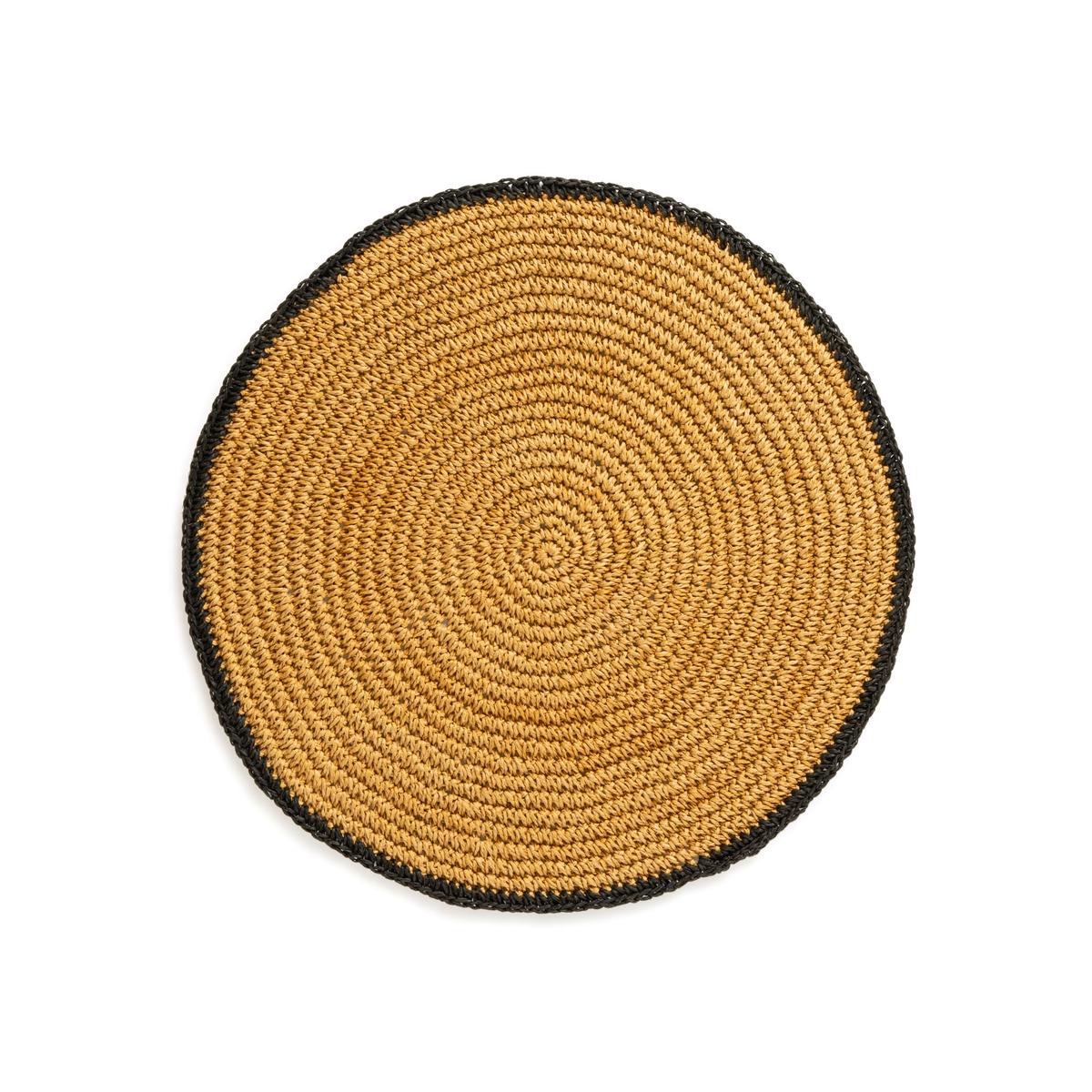 Комплект из подложек под La Redoute Столовые приборы из плетеной бумаги см Kewa единый размер бежевый цена 2017