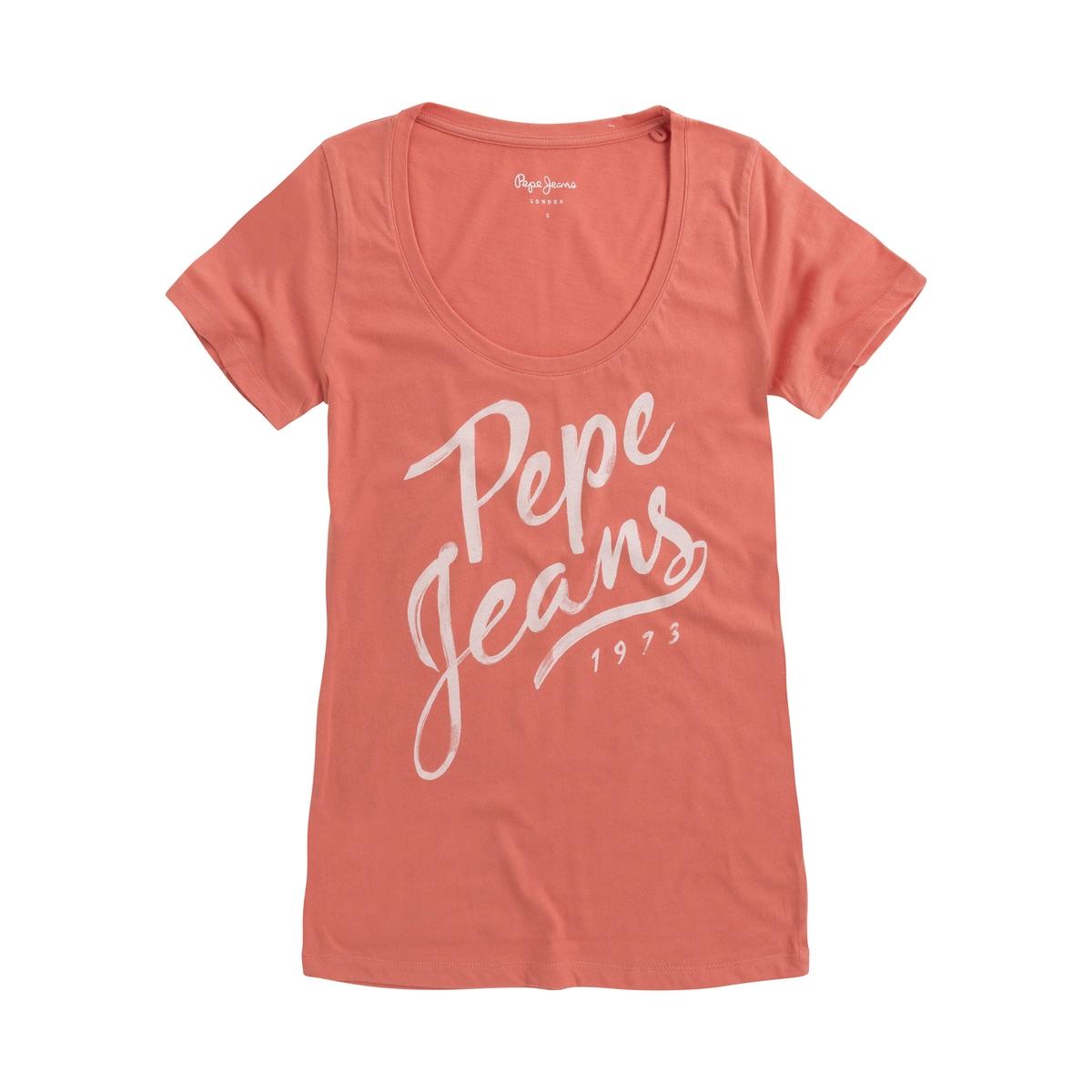 Imagen principal de producto de Camiseta con cuello redondo estampado delante Andrea - Pepe Jeans