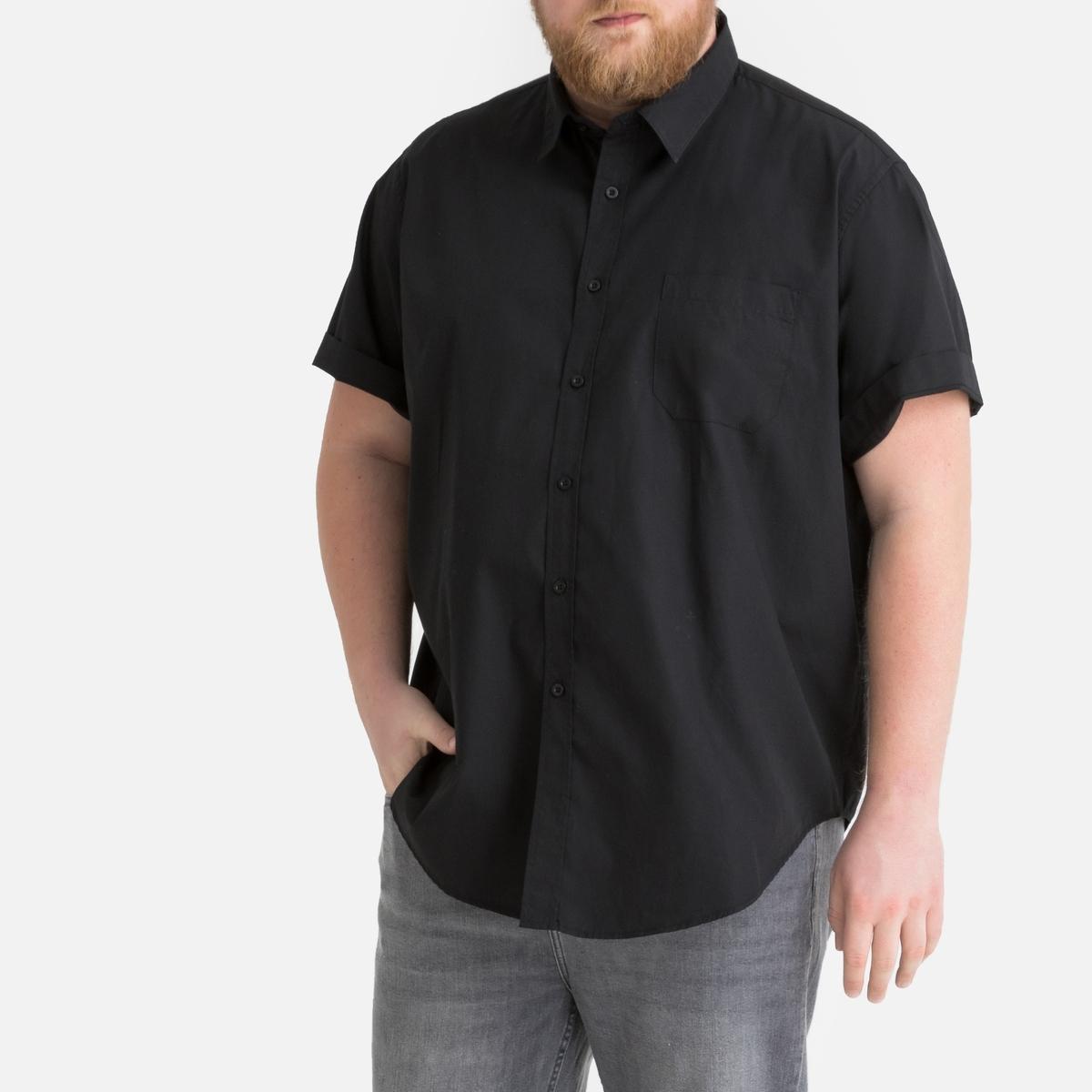 Фото - Рубашка LaRedoute Прямого покроя с короткими рукавами из коллекции больших размеров 53/54 черный юбка laredoute джинсовая прямого покроя xs синий