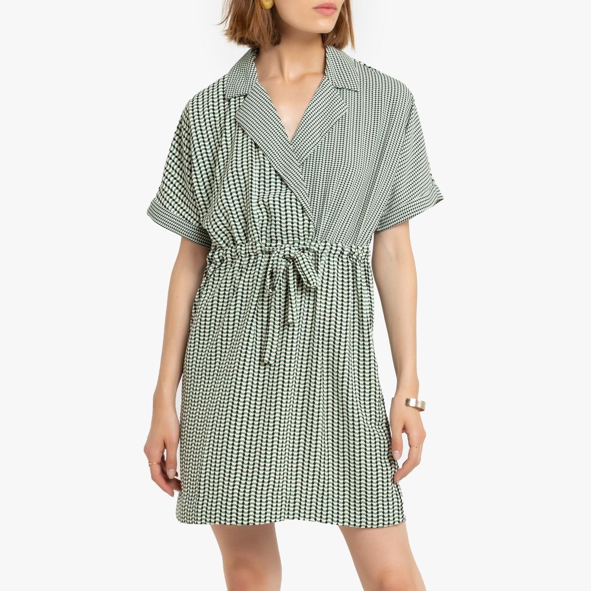 Платье La Redoute С запахом M зеленый платье миди la redoute с запахом струящееся m синий