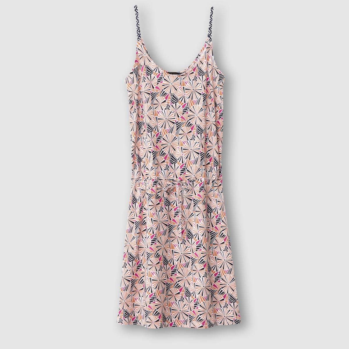 Платье без рукавов, с рисунком R essentiel рубашка в полоску изо льна r essentiel