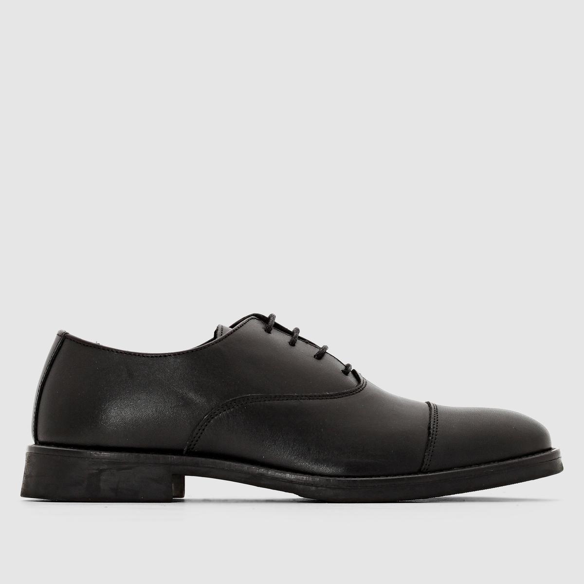 Ботики-дерби кожаные SELECTED MARCКлассические ботинки происходят от класса,это относится и к замечательным дерби от Selected, изготовленных в Португалии. Наслаждайтесь мягкой кожей, комфортом и модным стилем.<br><br>Цвет: черный<br>Размер: 43