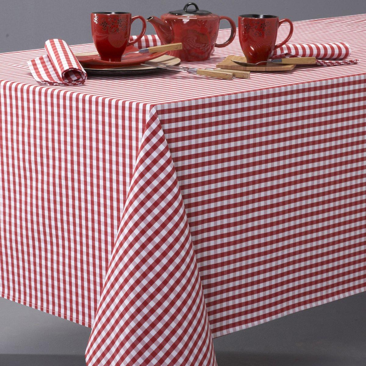 Скатерть в клетку виши, 100% хлопок с окрашенными волокнами, GARDEN PARTYВсегда модный рисунок в деревенском стиле, 3 цвета, для повседневного использования ! Машинная стирка при 40 °С.Текстиль для столовой, 100% хлопок с окрашенными волокнами : гарантия качества и долговечности.<br><br>Цвет: красный/ белый,серо-коричневый,серый/ белый