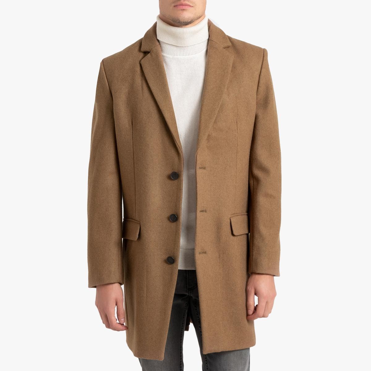 Пальто La Redoute Из шерстяного драпа Marc XXL бежевый