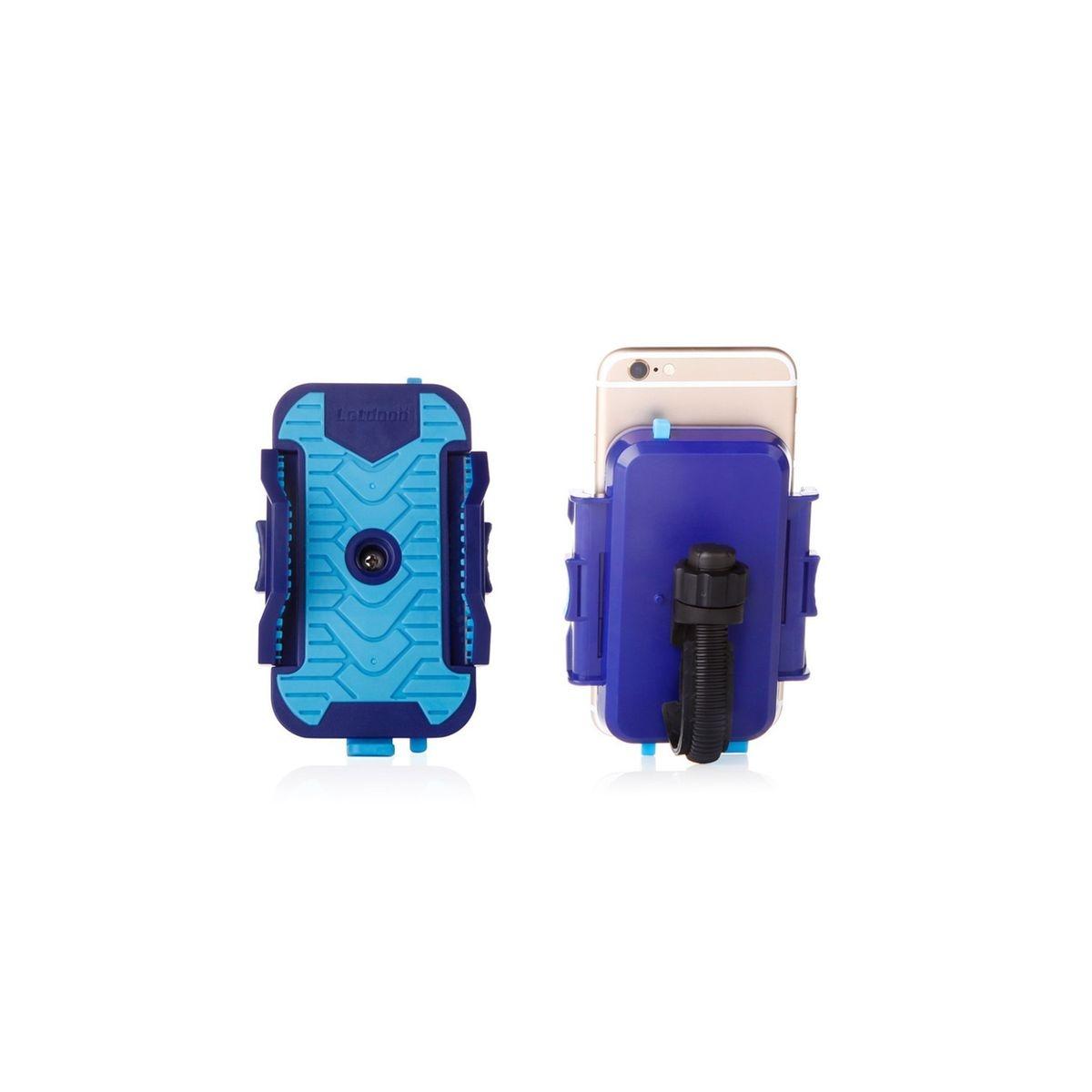 Support Vélo Universel Bleu Pour Téléphone Largeur Maximum 10 Cm