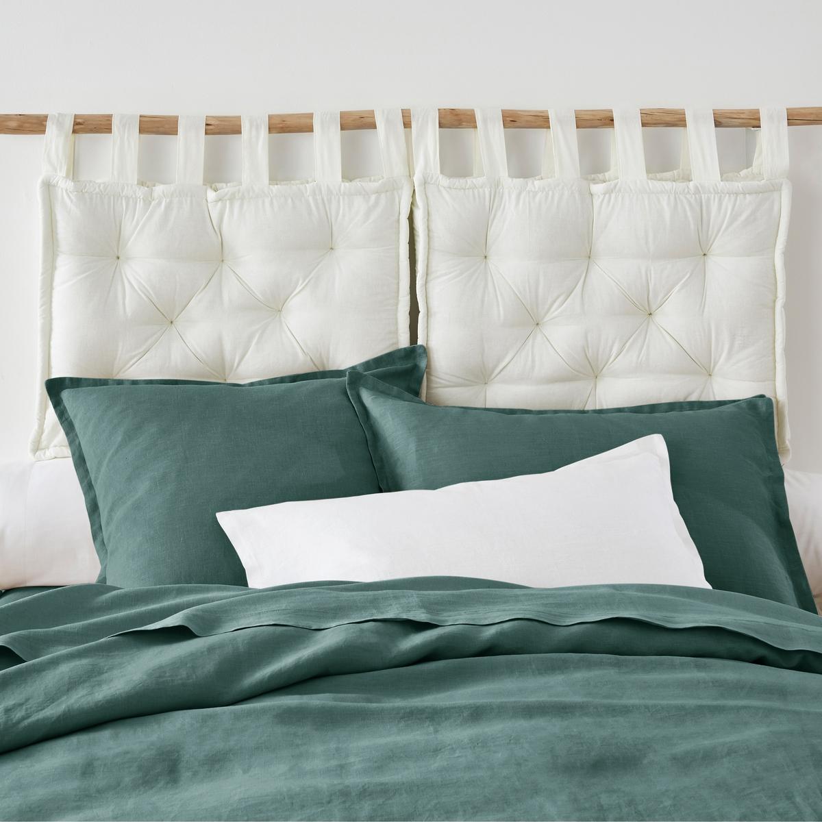 Подушка LaRedoute Для изголовья кровати 50 x 70 см белый чехол laredoute для изголовья кровати stadia 100 лен высота 95 см 95 x 10 x 160 см серый
