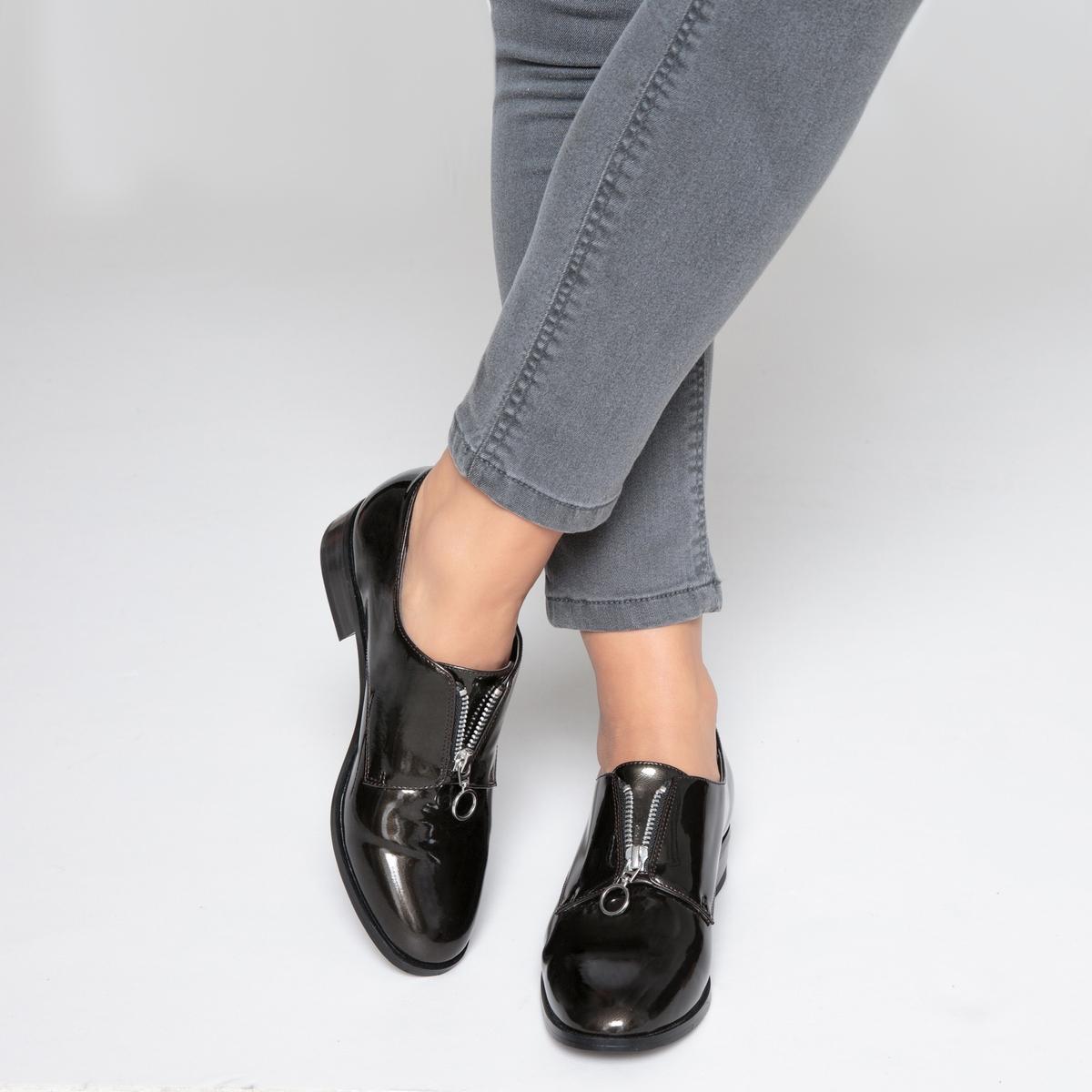 Ботинки-дерби на молнии спереди