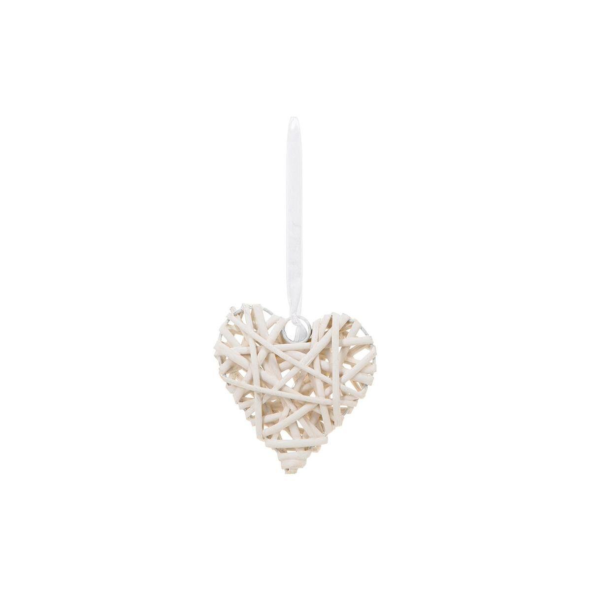 Coeur décorafif en Osier - H. 12 cm