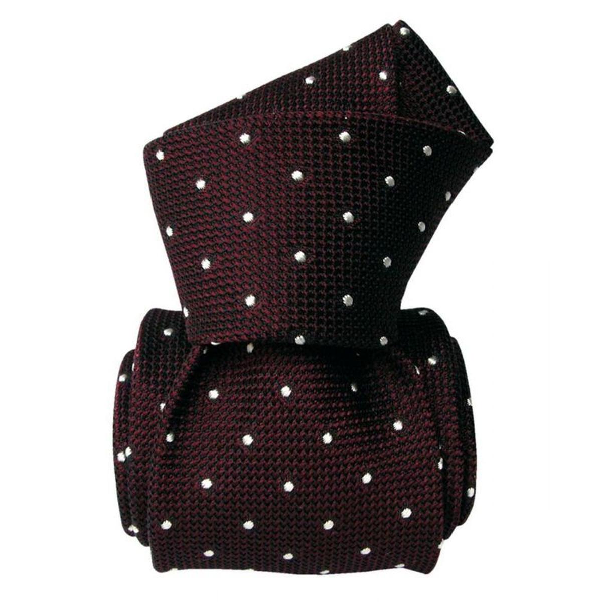 Cravate grenadine de soie luxe 1. Soie Pois