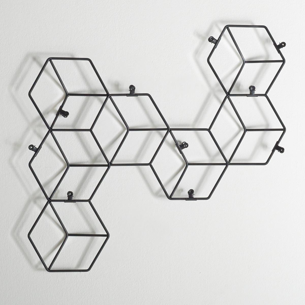 Держатель, Ranza.Характеристики держателя Ranza : Из металла с чёрным эпоксидным покрытием.10  крючков-зажимов чёрного цвета.Размеры держателя: Д82 x В52,5 x Г3,2 см.<br><br>Цвет: черный