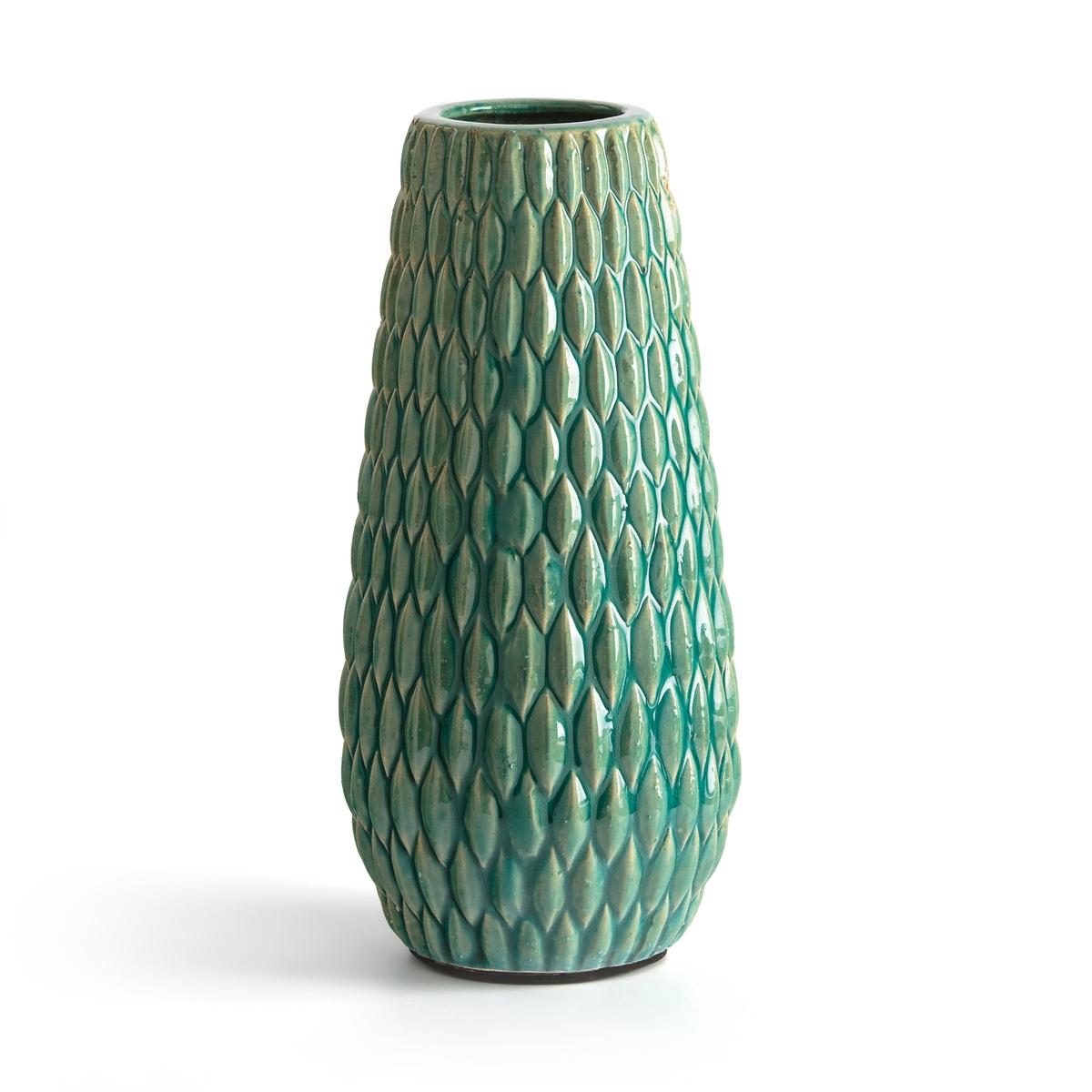 Ваза La Redoute Из керамики BANGOR единый размер синий плоские la redoute тарелки из эмалированной керамики attale единый размер каштановый