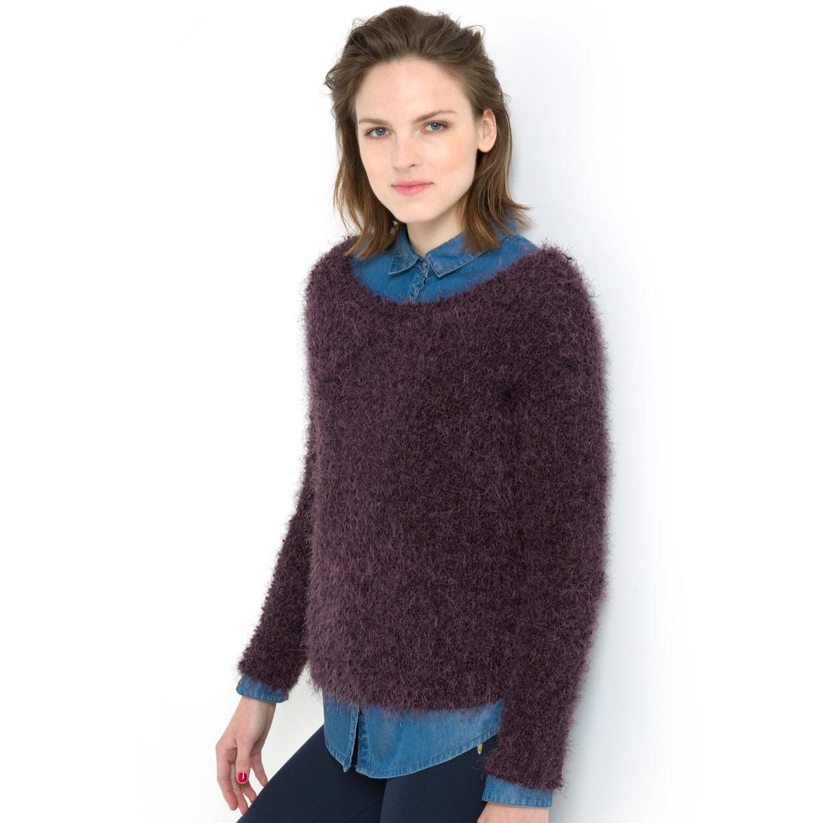 Пуловер<br><br>Цвет: баклажановый меланж,черный меланж<br>Размер: 46/48 (FR) - 52/54 (RUS).50/52 (FR) - 56/58 (RUS)