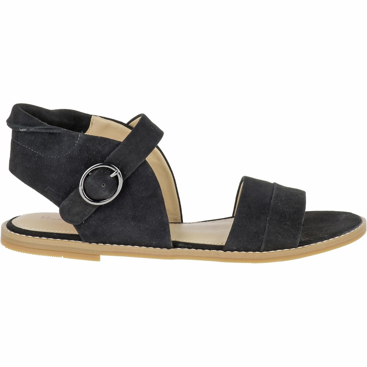 Сандалии кожаные AbiaВерх/Голенище : кожа    Подкладка : кожа    Стелька : кожа    Подошва : каучук    Высота каблука : 1 см    Форма каблука : плоский каблук    Мысок : закругленный мысок   Застежка : пряжка<br><br>Цвет: черный<br>Размер: 36.37