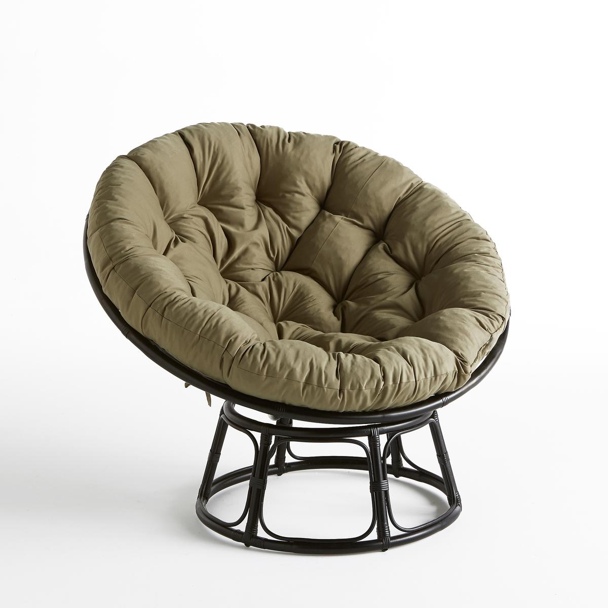 Кресло папасан из ротанга AraniasКресло папасан Aranias. Удобное и уютное кресло в традиционном колониальном стиле идеально для минут отдыха. Сиденье на цоколе позволяет варьировать угол посадки и находиться в нем сидя или полулежа.Характеристики : - Каркас сиденья и цоколь из ротанга- Подушка в съемном чехле из 100% полиэстера, наполнитель из пенопластовых шариков, завязки для крепления к каркасу. Размеры  : 47 см : ?115 см- Основание : ?70 см в самом широком месте- Высота сиденья: 60 смРазмеры и вес упаковки :- Ш116 x В34 x Г116 см, 4,5 кг, Ш71 x В31 x Г71 см, 2,2 кг и Ш131 x В10 x Г131 см, 6,67 кг :Доставка по предварительному согласованию, возможен подъём на этаж ! ! .<br><br>Цвет: хаки/черный